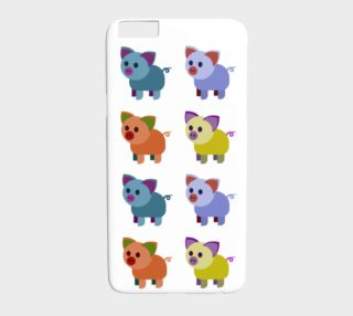 Multi-coloured piglets  iPhone 6 plus / 6S plus white preview