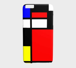 Mosaic DE STIJL Style black yellow red blue preview