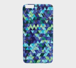 Geometric Triangle Ocean Mist Iphone 6 6s Plus Phone cover preview