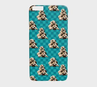 Pugs on Teal Checks aperçu