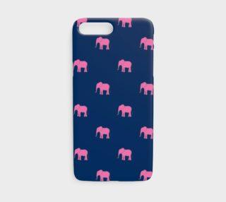 Aperçu de Elephant - Pink on Navy