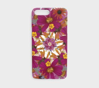Pressed Flower Mandala iphone case preview