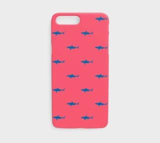 Aperçu de Shark - Blue on Coral