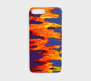 Lava in Purple and Orange iPhone Case preview