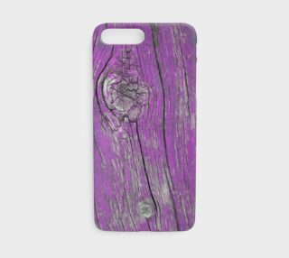 Wood Knots Purple iPhone Case preview