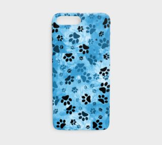 Blue Paw Print iPhone 7 Case preview