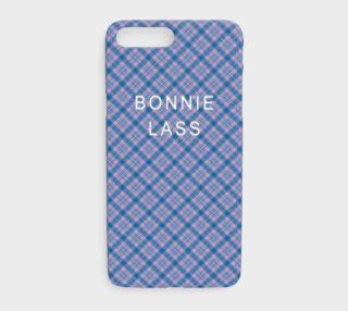 Bonnie Lass Blue Plaid iPhone 7 Plus Case preview