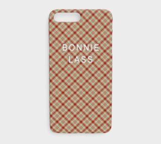 Bonnie Lass Red Plaid iPhone 7 Plus Case preview