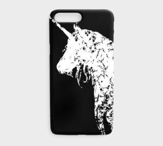 Me So Unicorny White Unicorn on Black iPhone 7 Plus Case preview