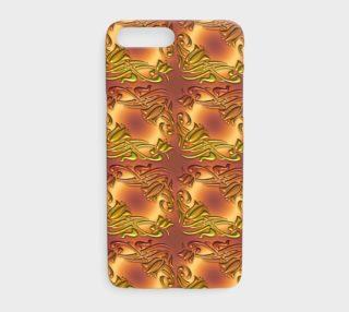 Aperçu de damask golden pattern