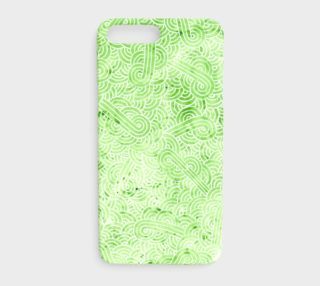 Greenery and white swirls doodles iPhone 7 Plus Case preview