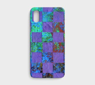 Purple Paper Weaving iPhone Case preview