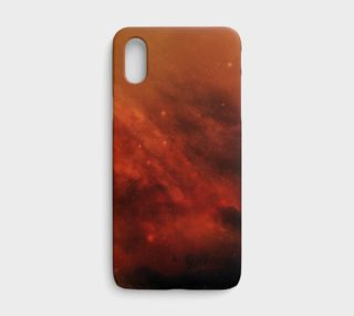 Aperçu de Orange Black Nebula iPhone X