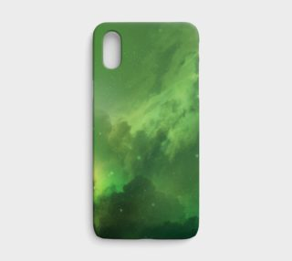 Aperçu de Green Nebula iPhone X