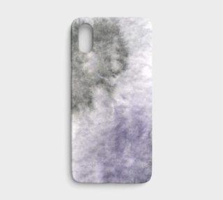 Aperçu de Watercolors Black/Purple iPhone X