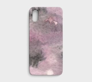Aperçu de Watercolors Black/Purple Splotch iPhone X