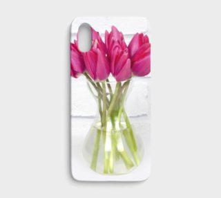 Aperçu de Vase of pink tulips