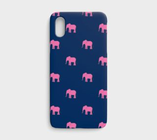 Aperçu de Elephant - Pink on Navy