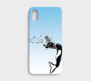 iPhone x kissing mermaid preview