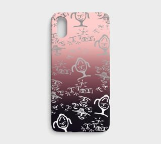 Pink Ombre Petroglyph Mash up iPhone x preview
