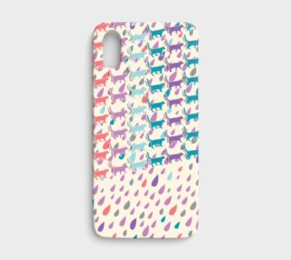Strolling Cats and Rain Drops iPhone X Case preview