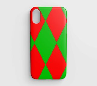 Christmas Harlequin Diamond iPhone Case preview
