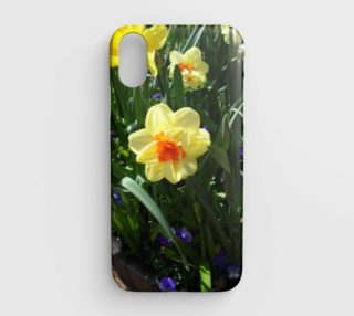 Yellow Daffodil Flower iPhone Case preview