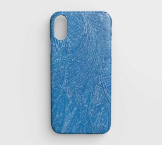 frost feathers in blue phone case aperçu
