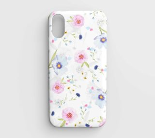 pink and blue floral phone case aperçu