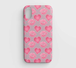 Love and Kisses iPhone XR Cases aperçu