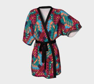 Cranberry Rose Mosaic Kimono Robe preview
