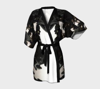 Black Ink Kimono Robe preview