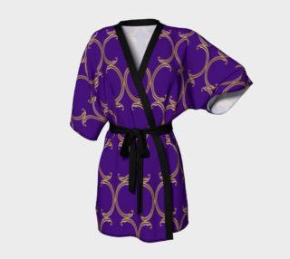 Moroccan Lattice in Purple and Faux Gold preview