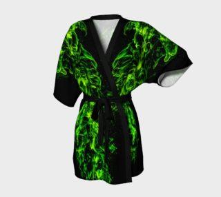 Green Flame Kimono Robe preview