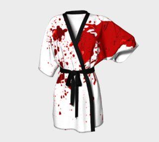 Blood Splatter First Cosplay Halloween Kimono Robe preview