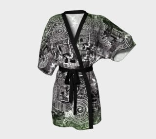 Aperçu de Painterly Cindy and More Delicious Elephant Kimono with Green, Black and White