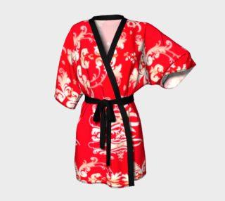 Sexy red stroll through the Orient Kimono robe preview