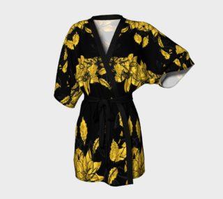 24 karat golden leaves Kimono robe preview
