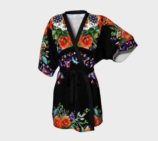 Day of the Dead Floral Kimono Robe preview