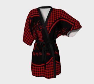 Aperçu de Attitude 13 Red Flannel Design  Kimono Robe