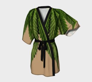 Aperçu de Marijuana Leaf Green and Tan Two