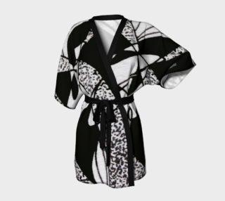 Aperçu de Kimono peignoir-Griffe Noir et blanc-micheline-plante