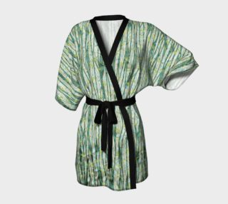Aperçu de Blue Green Black Nature Floral Kimono Robe