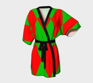 Christmas Harlequin Diamond Kimono Robe preview