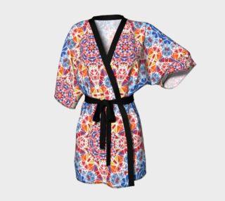 Blue and Orange Kaleidoscope Kimono Robe preview