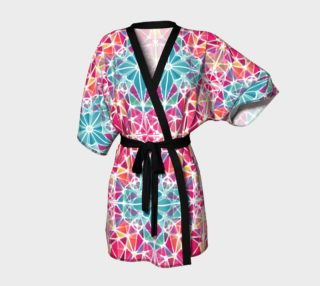 Pink and Blue Kaleidoscope Kimono Robe preview
