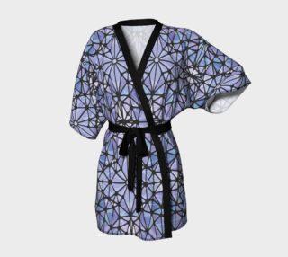 Purple and Blue Kaleidoscope Kimono Robe preview
