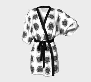 Mandala Black and White Kimono Robe preview