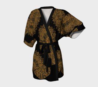 Golden Mandala Pattern Kimono Robe preview