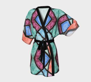 Colorful Stained Glass Kimono Robe preview